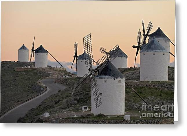 Consuegra Windmills Greeting Card