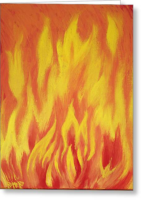 Consuming Fire Greeting Card