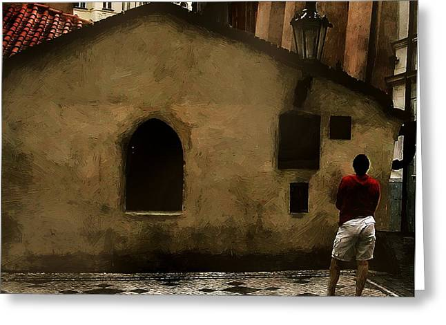 Contemplating Antiquity Greeting Card by RC DeWinter