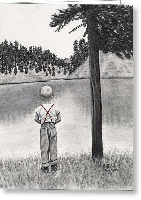 Contemplation Greeting Card by Debbie Smith