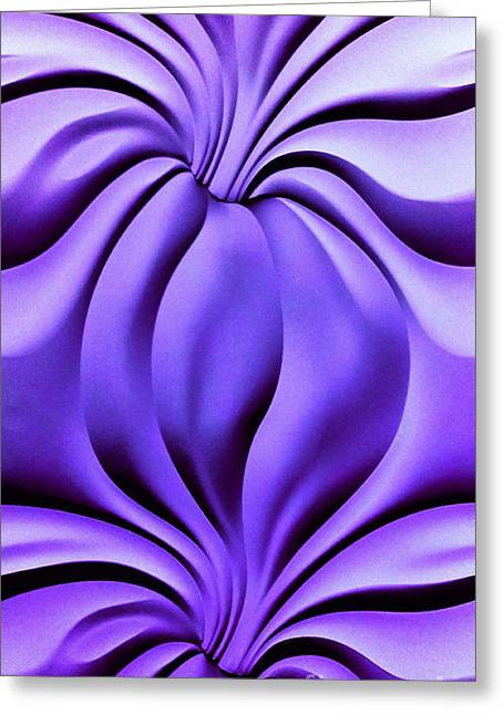 Contemplation In Purple Greeting Card