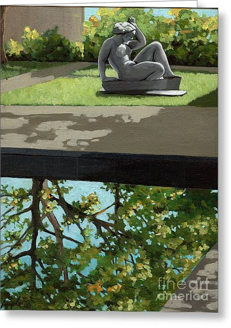 Contemplation Greeting Card by Linda Apple
