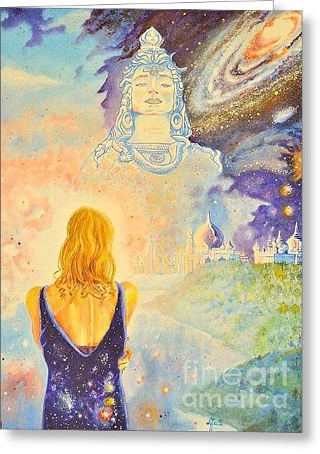 Contemplation To Shiva Greeting Card by Antonio Porto