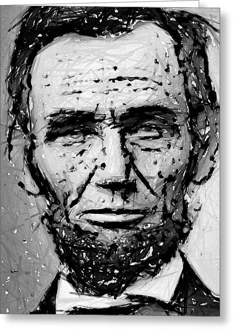 Contemplative Abe Lincoln Greeting Card by Daniel Hagerman