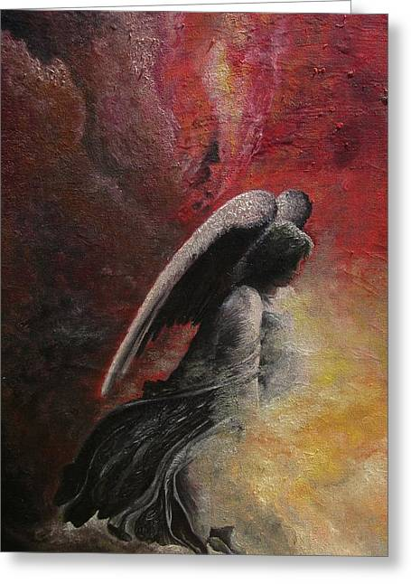 Contemplative Angel Greeting Card