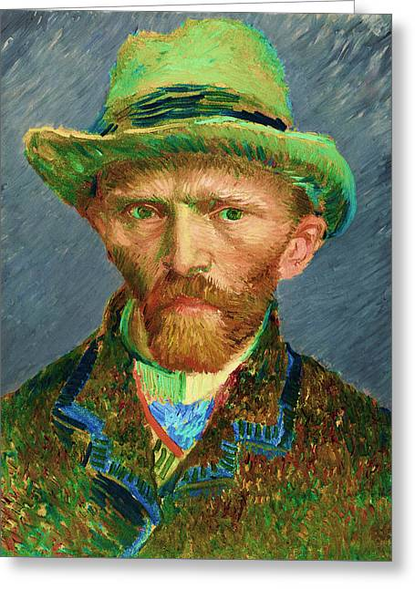 Contemporary 2 Van Gogh Greeting Card