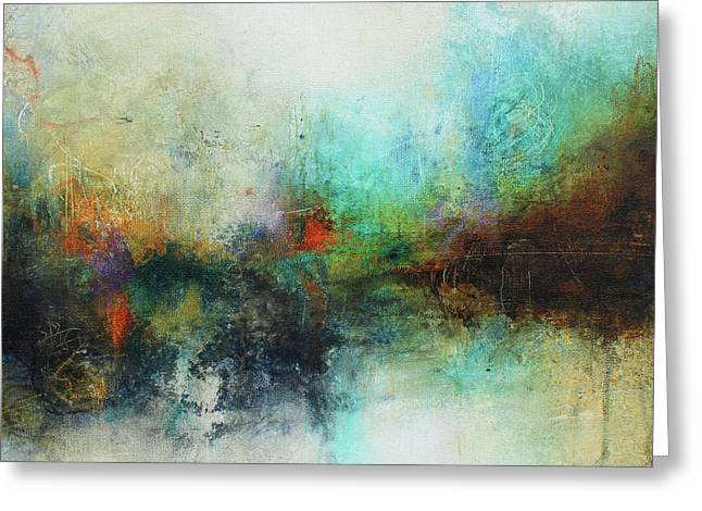 Contemporary Abstract Art Painting Greeting Card by Patricia Lintner