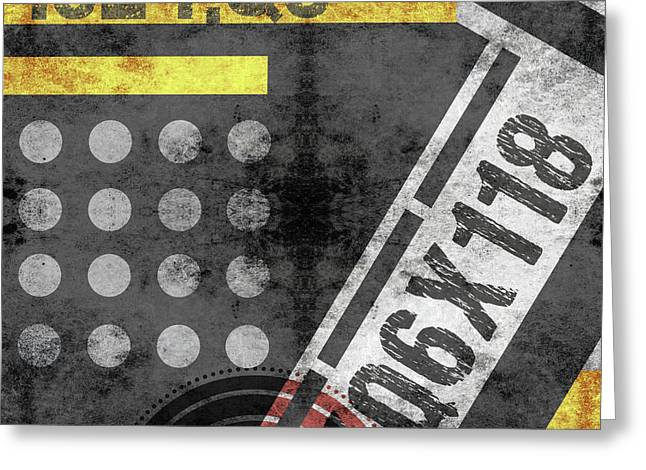 Contemporary Abstract Industrial Art - Distressed Metal - Black And Gold Greeting Card