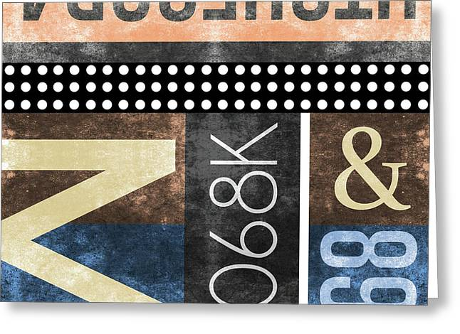 Contemporary Abstract Industrial Art - Distressed Metal - Typographic Greeting Card