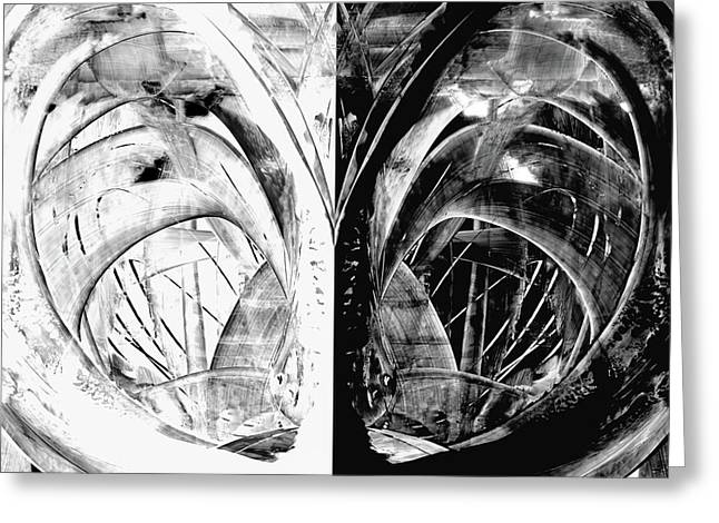Contemporary Art - Black And White Embers 1 - Sharon Cummings Greeting Card by Sharon Cummings
