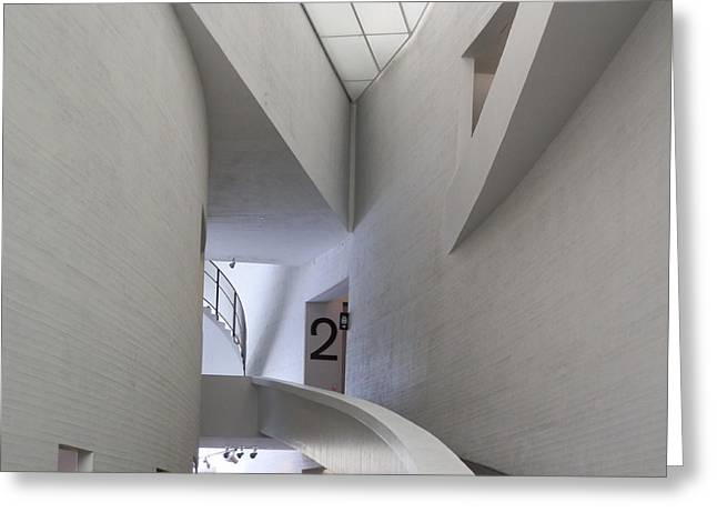 Contemporary Art Museum Interior Greeting Card