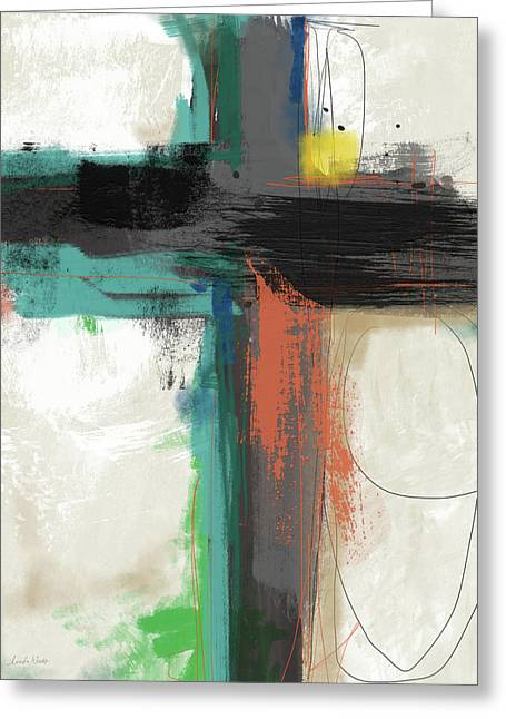 Contemporary Cross 2- Art By Linda Woods Greeting Card