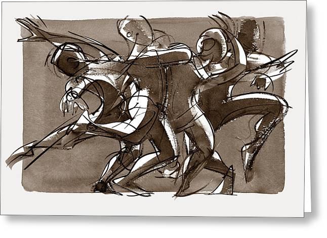 Contemporary Dance Quartet - Lucky Plush, Chicago Greeting Card
