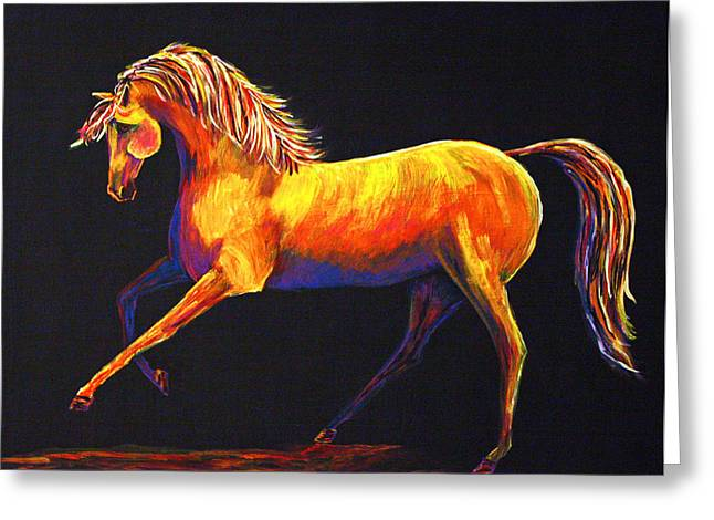 Greeting Card featuring the painting Contemporary Equine Painting Illuminating Spirit by Jennifer Godshalk