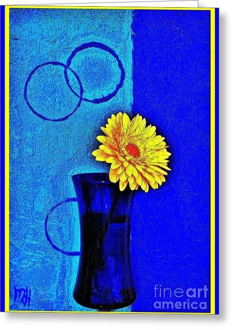 Contemporary Gerber Greeting Card by Marsha Heiken