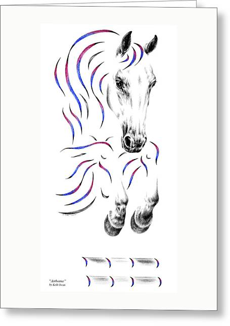 Contemporary Jumper Horse Greeting Card