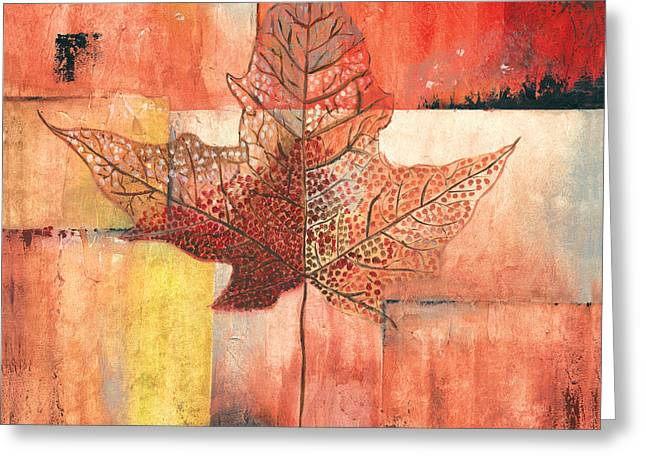Contemporary Leaf 2 Greeting Card by Debbie DeWitt