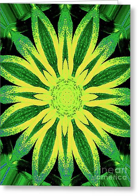 Greeting Card featuring the digital art Contemporary Mathematical 4-8-16 Octangular Art by Merton Allen