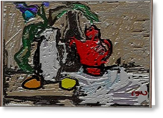 Contemporary Still Life Greeting Card by Pemaro