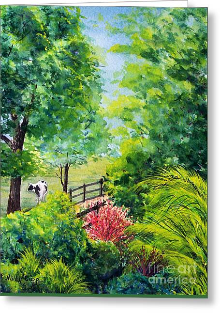 Greeting Card featuring the painting Contentment by Nancy Cupp