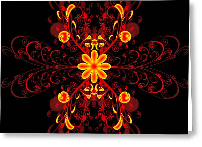 Continental Abstract Greeting Card by Svetlana Sewell