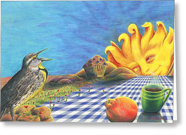 Continental Breakfast Greeting Card by Bon Vernarelli