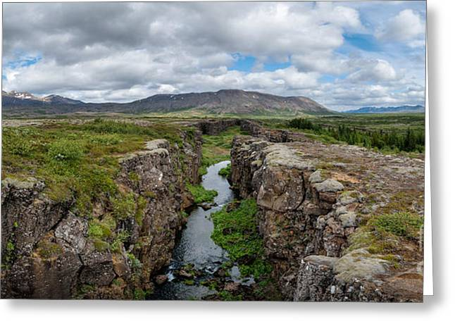Continental Divide Panorama In Iceland Greeting Card