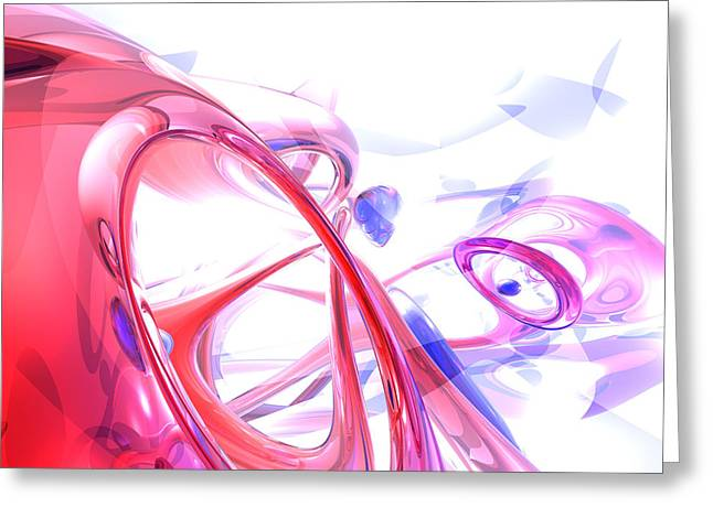 Contortion Abstract Greeting Card by Alexander Butler