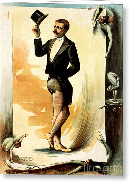 Contortionist, 1892 Greeting Card