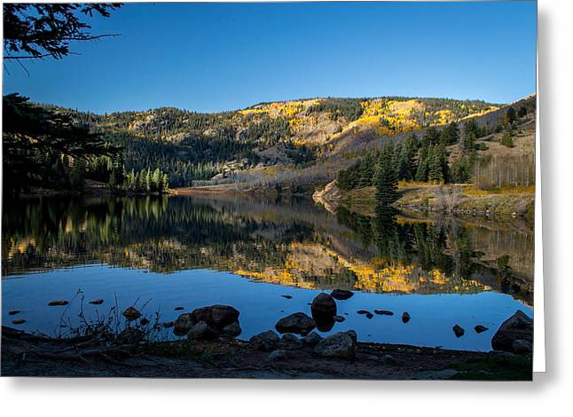 Contract Lake Fall Morning Greeting Card by Michael J Bauer