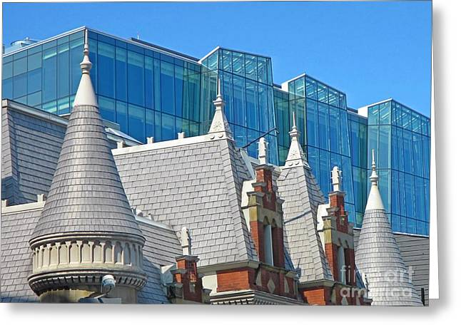 Contrasting Architecture Greeting Card by John Malone