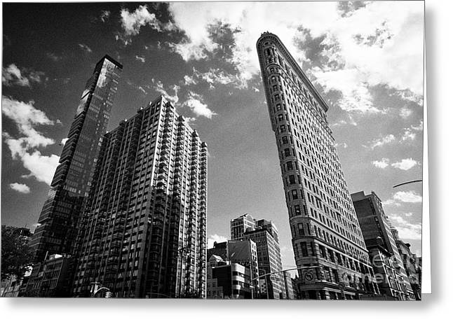 One madison park greeting cards fine art america contrasting architecture styles one madison park madison green and flatiron building district new yo greeting card m4hsunfo Images