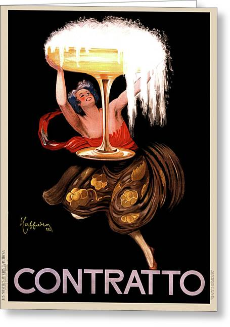 Contratto Champagne Italy 1922 Greeting Card by Daniel Hagerman