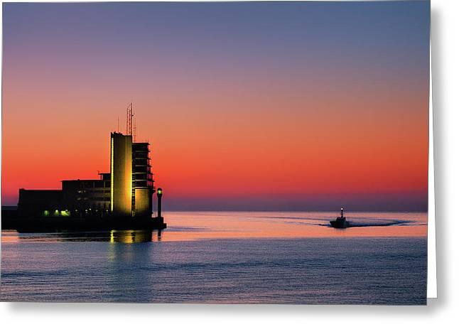 Control Tower In Santurtzi Greeting Card