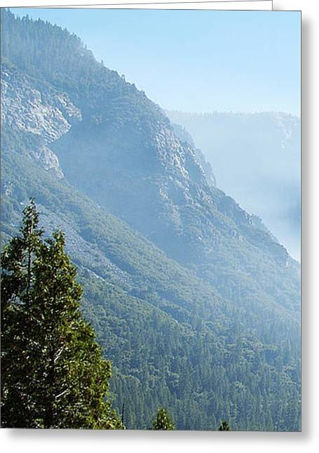1 Of 4 Controlled Burn Of Yosemite Section Greeting Card