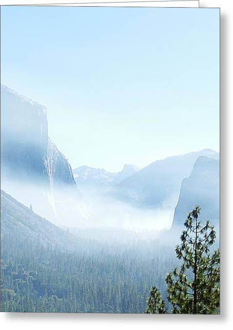 2 Of 4 Controlled Burn Of Yosemite Section Greeting Card