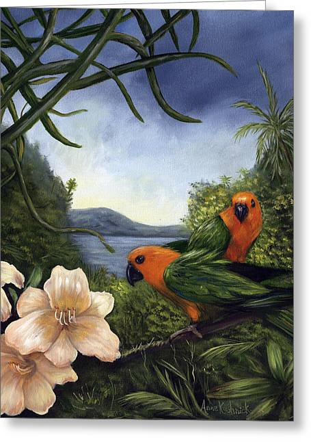 Conures Greeting Card