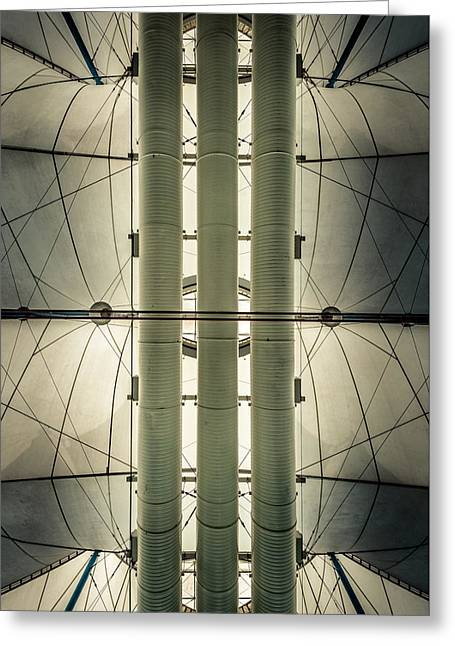 Greeting Card featuring the photograph Convention Center Ceiling by Alexander Kunz