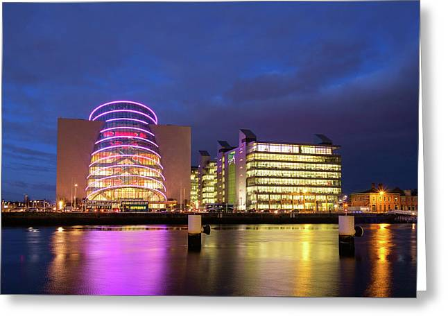 Convention Centre Dublin And Pwc Building In Dublin, Ireland Greeting Card