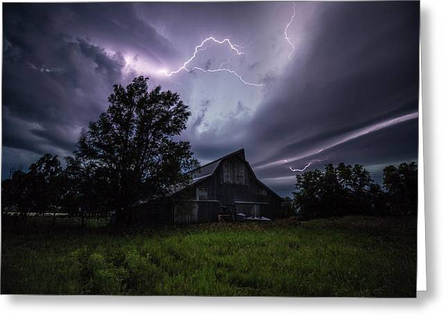 Greeting Card featuring the photograph Convergence  by Aaron J Groen