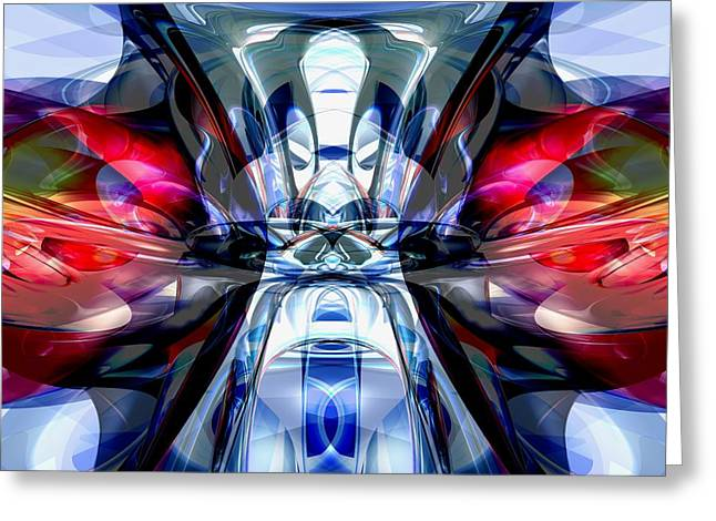 Concentration Greeting Cards - Convergence Abstract Greeting Card by Alexander Butler