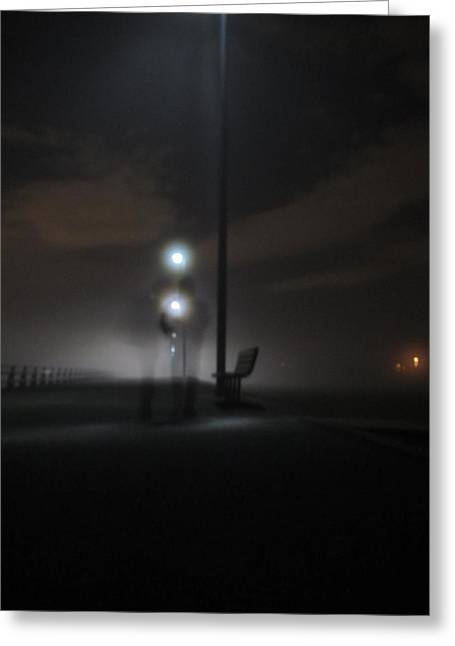 Greeting Card featuring the photograph Conversation In The Mist by Digital Art Cafe