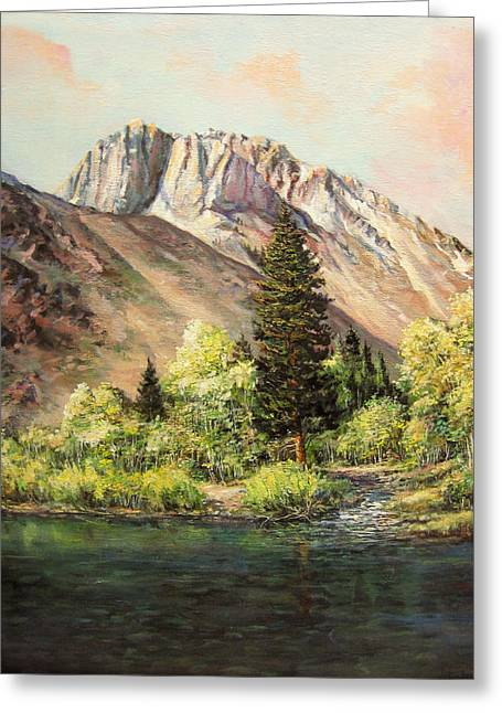 Convict Lake In May Greeting Card by Donna Tucker