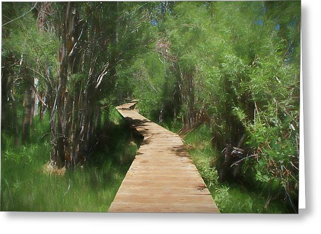 Greeting Card featuring the photograph Convict Lake Loop Trail by Donna Kennedy