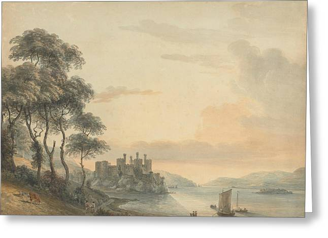 Conway Castle Greeting Card by Paul Sandby
