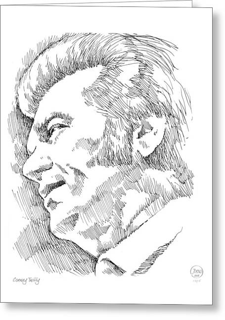 Conway Twitty Greeting Card by Greg Joens