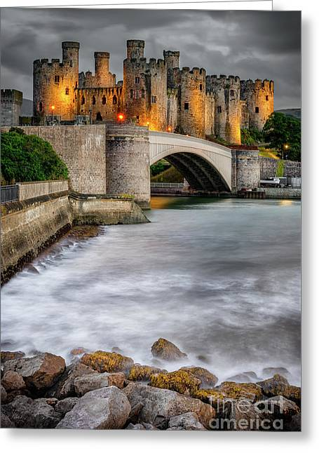 Conwy Castle At Night Greeting Card
