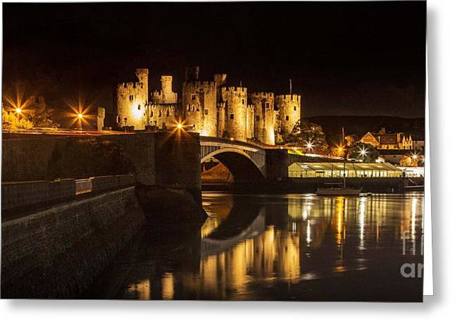 Conwy Castle At Night  Greeting Card by Chris Evans