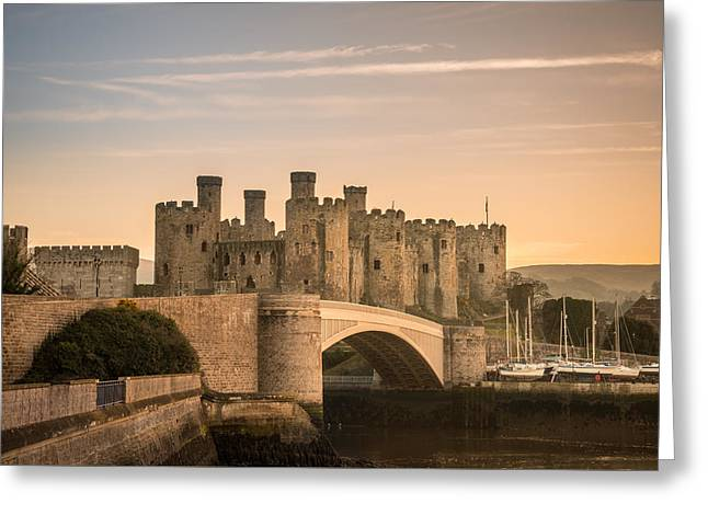 Conwy Castle Sunset Greeting Card