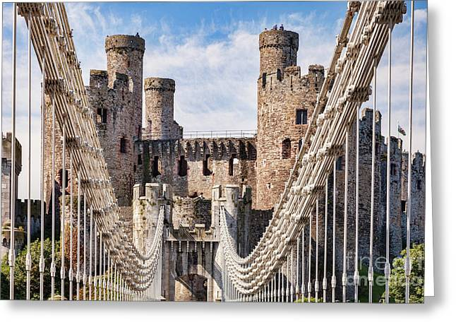 Conwy Castle Wales Greeting Card by Colin and Linda McKie